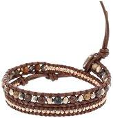 Chan Luu Chalcedony Pietersite and Crystal Mix Double Wrap Bracelet