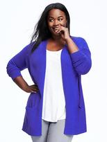 Old Navy Long Open-Front Plus-Size Cardi