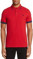 Fred Perry Ringer-Cuff Pique Polo Shirt