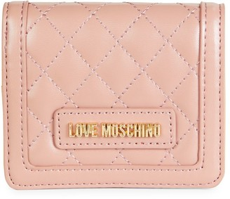 Love Moschino Portafogli Quilted Faux Leather Wallet