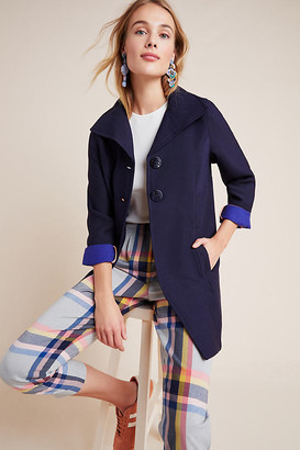 Anthropologie Wellesley Pleated Peacoat By in Blue Size S