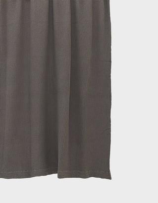 Hawkins New York Simple Waffle Shower Curtain in Dark Grey