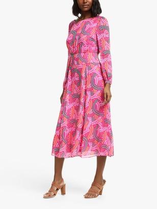 Boden Ingrid Midi Dress, Party Pink/Swish