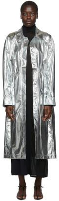 Markoo Silver Shirt Dress Coat