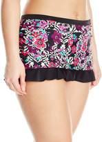 Jessica Simpson Women's Plus-Size It Girl Skirted Bikini Bottom