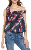 Tommy Jeans x Gigi Hadid Frill One-Strap Top