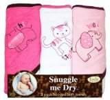 FRENCHIE MINI COUTURE Safari Animal 3-Pack Towel-Girl