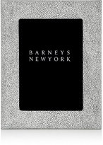 "Barneys New York Shagreen-Effect Studio 5"" x 7"" Picture Frame"