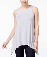 American Rag Sleeveless Handkerchief-Hem Top, Only at Macy's