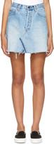 RE/DONE Re-done Blue Levis Edition Denim High-rise Miniskirt