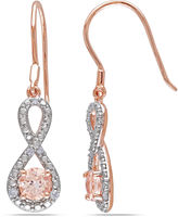 JCPenney FINE JEWELRY Genuine Morganite and Diamond Infinity Earrings