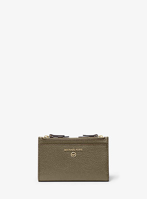 Michael Kors Small Pebbled Leather Double-Zip Card Case