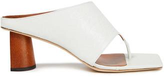 REJINA PYO Lina Crinkled Patent-leather Sandals