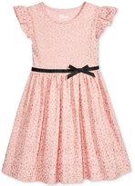 Epic Threads Metallic-Print Flutter-Sleeve Dress, Toddler & Little Girls (2T-6X), Only at Macy's