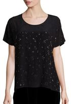 Eileen Fisher Embellished Silk Top
