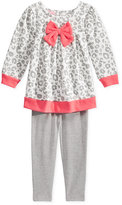 Nannette Baby Girls' 2-Pc. Animal-Print Tunic & Heathered Leggings Set