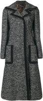 Dolce & Gabbana A-line coat - women - Cotton/Acrylic/Polyamide/Wool - 40