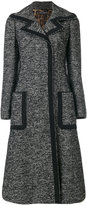 Dolce & Gabbana A-line coat - women - Cotton/Acrylic/Polyamide/Wool - 42