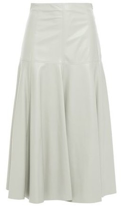 Drome Flared Leather Midi Skirt