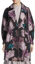 Co One-Button Floral Brocade Topper, Multi