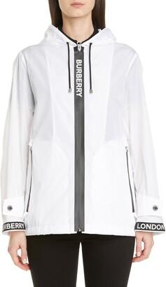 Burberry Everton Logo Tape Hooded Rain Jacket