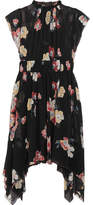 Ulla Johnson Luisa Floral-print Silk-georgette Mini Dress - Black