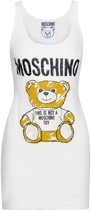 Moschino Appliqued Cotton-blend Jersey Mini Dress