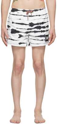 Burberry Black and White Zebra Greenford Swim Shorts