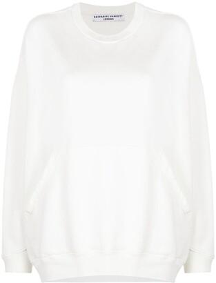 Katharine Hamnett Crystal-Embellished Logo Sweatshirt
