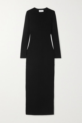 Matteau Stretch-knit Maxi Dress - Black