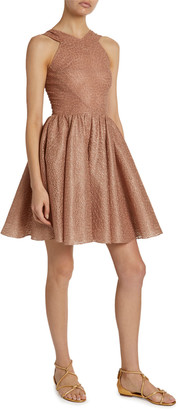 Alaia Macrame Halter-Neck Fit & Flare Dress