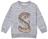Soft Gallery Stormy Blue Rattle Neppy Kipp Sweatshirt