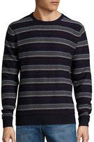 Black Brown 1826 Wool-Blend Striped Crewneck Sweater