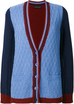 Etro colour-block knitted cardigan - women - Viscose/Cashmere/Wool - 40