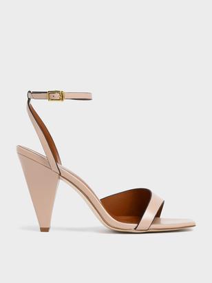 Charles & Keith Asymmetric Strap Cone Heel Sandals