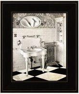 Metaverse Art Victorian Bathroom Framed Wall Art