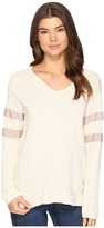 Culture Phit Liva Long Sleeve Top with Stripes Women's Clothing