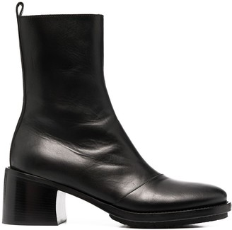 Ann Demeulemeester Chunky Sole Leather Boots
