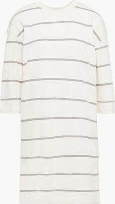 ATM Anthony Thomas Melillo Striped Cotton-jersey Mini Dress