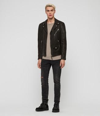 AllSaints Leo Leather Biker Jacket