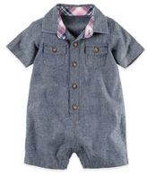 Carter's Button-Front Chambray Romper in Blue