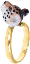 Nach Mini Leopard Adjustable Porcelain Ring