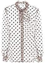 Isa Arfen Polka-dotted tulle blouse