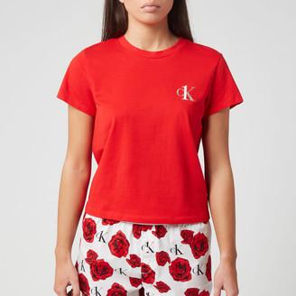 Calvin Klein Women's Sleep Short Sleeve Crew Neck T-Shirt