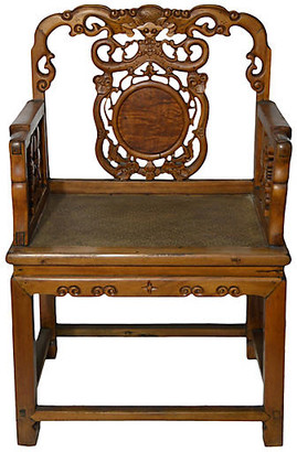 One Kings Lane Vintage Antique Hand-Carved Wood Chair - FEA Home