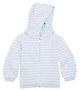 Kissy Kissy Baby Boy's Rugby Stripe Knit Hooded Cotton Jacket