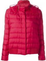 Moncler organza hood puffer jacket