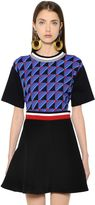 Marni Print Georgette & Cotton Jersey T-Shirt
