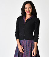 black crochet cardigan - ShopStyle