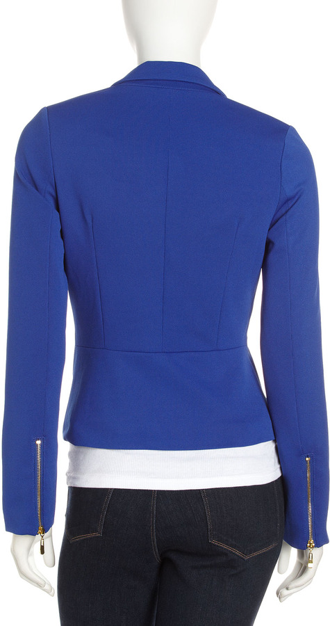 Romeo & Juliet Couture One-Button Blazer, Royal
